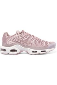 Air Max Plus leather-trimmed matelassé satin sneakers